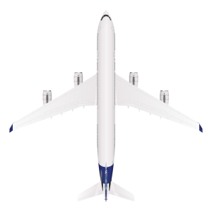 Airbus A340 top view