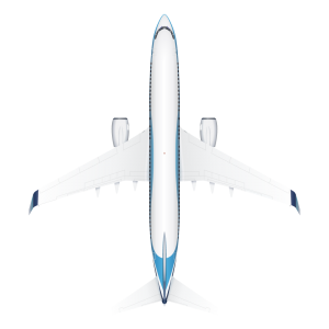 Boeing B737 top view