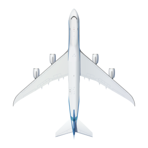 Boeing B747 top view