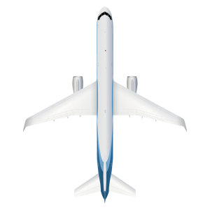 Boeing B757 top view
