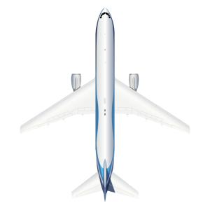 Boeing B767 top view