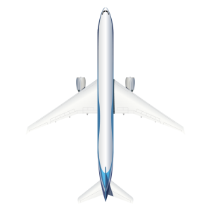 Boeing B777 top view