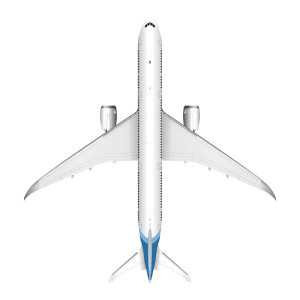 Boeing 787 top view