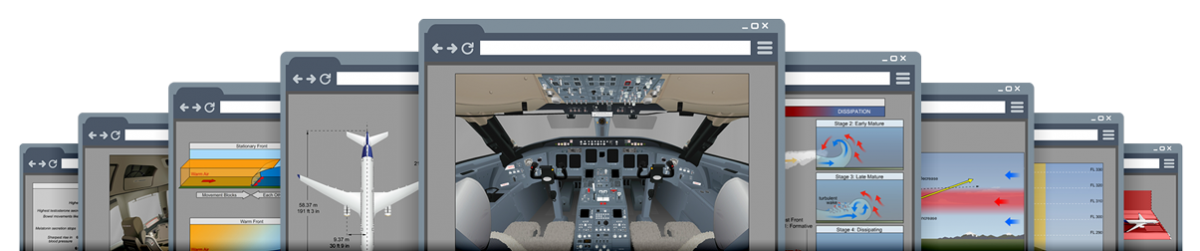 Pelesys aviation courseware screenshots