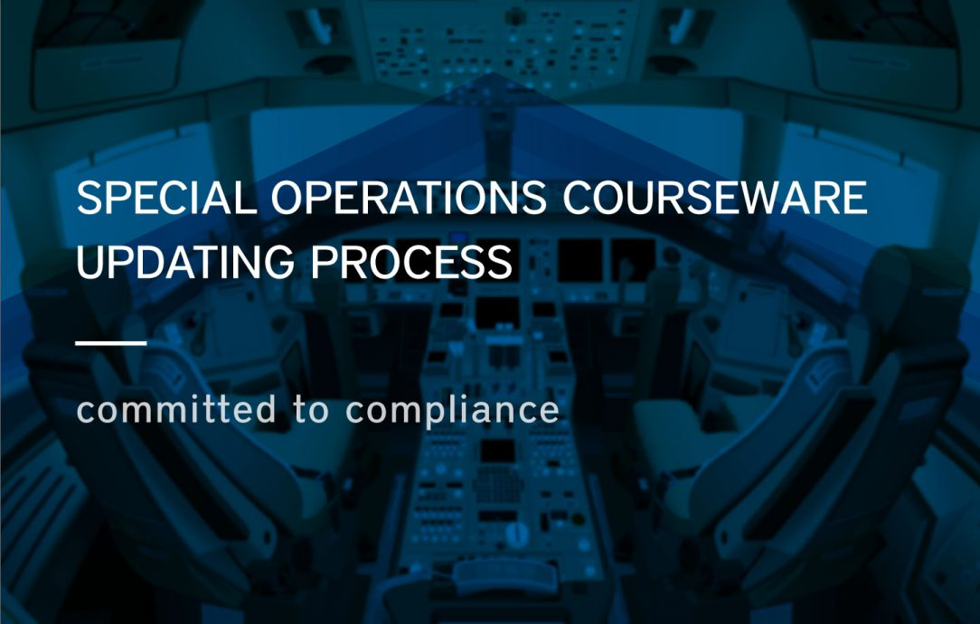 Pelesys aviation training and pilot training special operations courseware updating process
